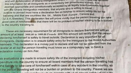 The immigration papers Dave Hazel was sent by the fraudster's 'solicitor'. Photo: Dave Hazel