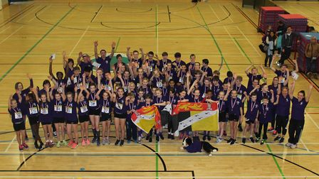 Norfolk's teams thrived at the Regional Sportshall Athletics Championships at the UEA. Picture: Cliv