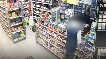 A Norwich man claims CCTV footage shows a Hermes delivery driver leaving with his package that the c