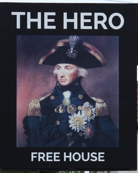 The Hero public house in Burnham Overy Staithe is named for Lord Nelson, who is said to have learnt