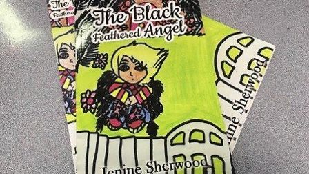 The Black Feathered Angel by Jenine Sherwood has been printed by an international publisher. Photo: