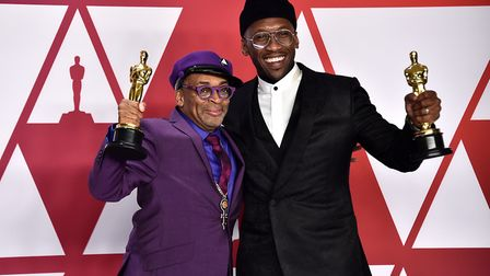Spike Lee and Mahershala Ali in the press room at the 91st Academy Awards Photo: Alberto Rodriguez