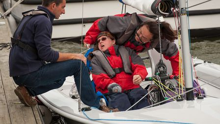 Bryone Limb, who has been named Sailor of the Year in the Royal Yachting Association Sailability Aw