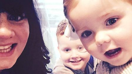 Keira O''Donoughoe with son Freddie and Florence. Picture: Keira O'Donoughoe