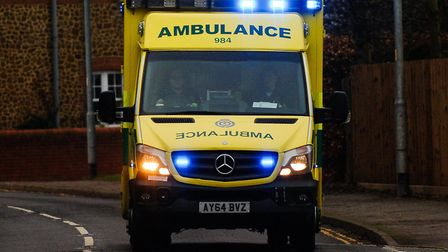 The ambulance service has been called to an incident at Mile End Road in Norwich. Picture: Chris Bis