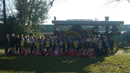 Rainbows, Brownies and Guides groups from the Acle district held a fun day at Strumpshaw Steam Museu