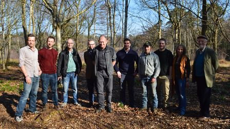 Members of the Wild East Project at the Somerleyton Estate. Picture: Chris Hill