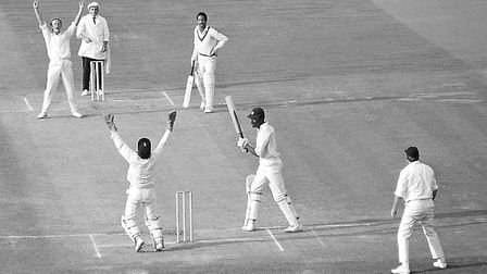 Garry Sobers (non-striker's end) playing for West Indies against England. Picture: Getty Images