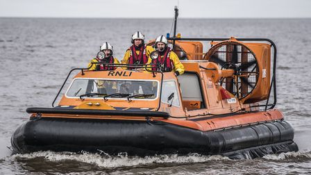 Hunstanton RNLI rescued a casulty after they collapsed on a fishing vessel. Picture: Matthew Usher.