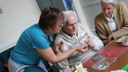 Arts and crafts is one of the regular activities offered at the Wymondham Dementia Support Group Caf