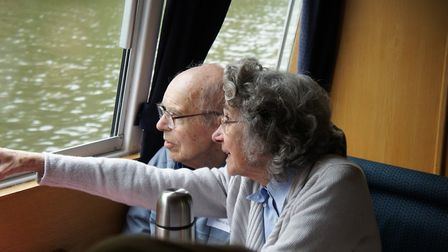 Members of the Wymondham Dementia Support Group on an outing to the Norfolk Broads. Photo: Phil Whis