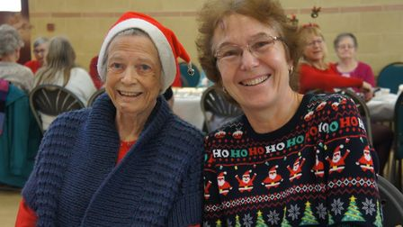 Members celebrate at the Wymondham Dementia Support Group Christmas party. Photo: Phil Whiscombe