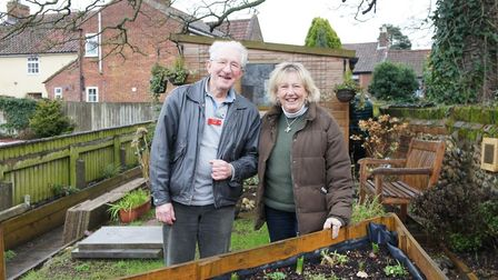 A team of volunteers from the Wymondham Dementia Group transformed neglected land into a 'Happiness
