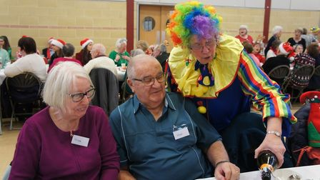 Group organiser Dianne Fernee entertains members with her colourful outfit choice at last year's Chr