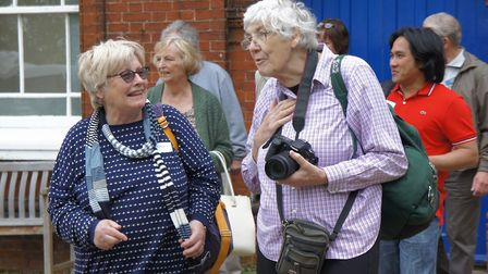 Tthe Wymondham Dementia Support Group heads out on one of its regular member outings. Photo: Phil Wh