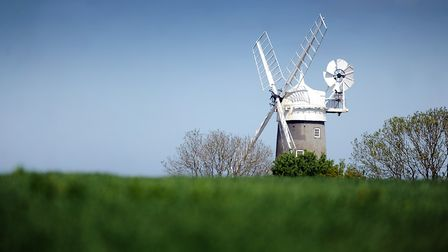 Sunny weather had decended on Norfolk - Bircham Windmill in the sun. Picture: Matthew Usher.