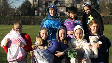 Pupils at Norwich Lower School took part in a 'lock-in', sleeping at school to raise money for chari