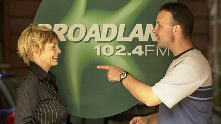 Radio Broadland presenters Chrissie Jackson and Rob Chandler head to head in 2003. Picture: ARCHANT