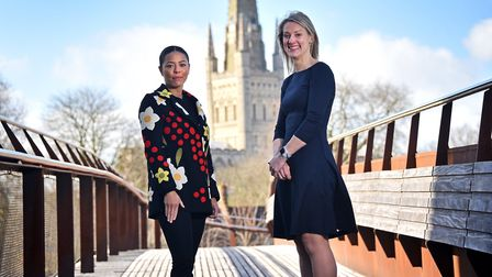 We Can business mentoring scheme. Mentors, Izzy Phoenix, left, and Bethan Gill.Picture: ANTONY KELLY