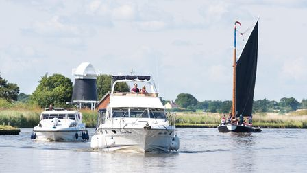 The Norfolk Broads is a popular tourist destination during the summer. Picture: James Bass Photograp