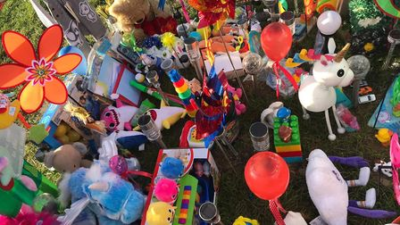 The parents of Cohen Messenger are heartbroken after his birthday gifts were stolen from grave. Pict