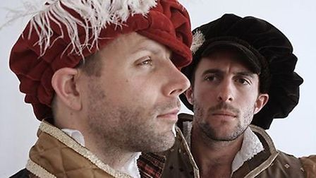 While on tour together, Nick (left) and Josh performed as famous Shakespearean actors Will Kempe and