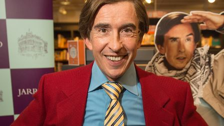 Alan Partridge at a book signing in Norwich. Photo: Paul John Bayfield.