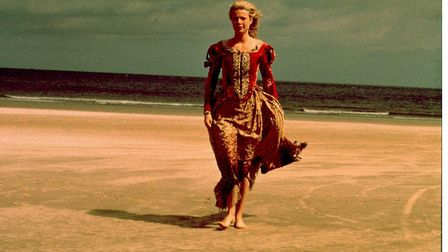 Gwyneth Paltrow walks across the beach at Holkham, North Norfolk, in the closing shot of the film Sh