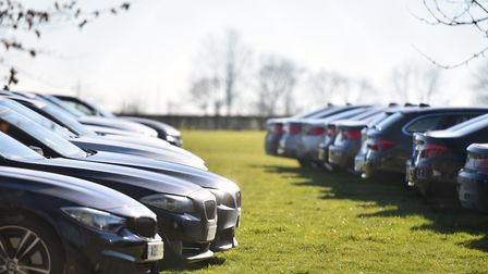 The recalled cars parked at the Norfolk Showground. PICTURE: Jamie Honeywood