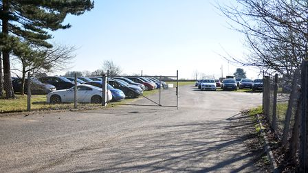 The access gate where the recalled cars are parked is unlocked, Norfolk Showground. PICTURE: Jamie H