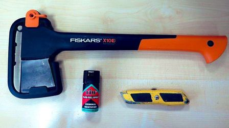 Weapons that were found at a Norwich address. Picture: Norwich Police