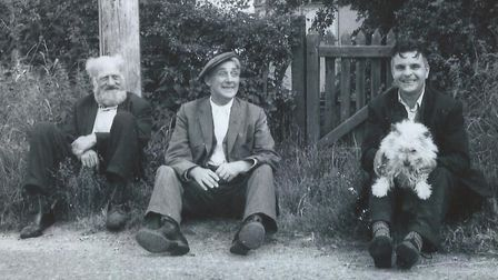Norfolk's answer to Last of the Summer Wine? A mardling trio at side of the road in Toftwood in ear