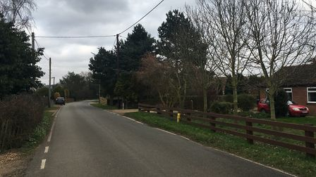 Beach Road, Snettisham, where the armed robbery took place. A man has been charged in connection wit