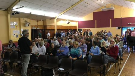 More than 100 people filled Wreningham Village Hall last year to voice their concerns about the deve