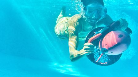 Sea scootering in the pool Picture: Richardson's Holidays