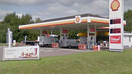 The Shell garage at the Besthorpe services on A11, near Attleborough, was broken into in the early h