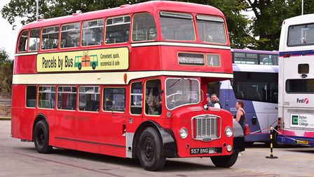 A First Eastern Counties red Bristol bus, similar to the style Mr Willis worked on in the 1970s Pict