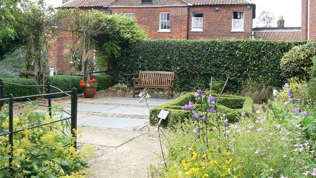 The courtyard at Wymondham Bridewell, previously an exercise yard for prisoners. Photo: Submitted