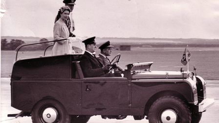 The Queen at RAF Marham in 1956. Photo: Archant Library