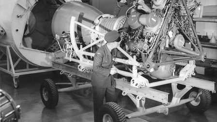 The Thor missile at RAF Feltwell, 10 February 1960 . Photo: Archant Library
