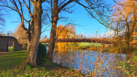 Winter sun on the River Wensum in Norwich. Picture: LAURA BAXTER.