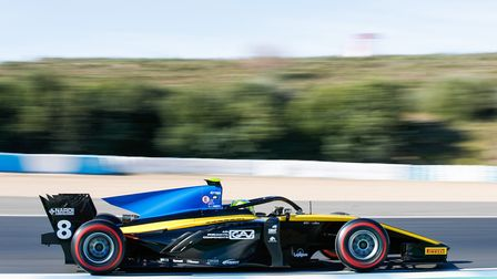 Luca Ghiotto recorded a best result of second fastest time on day two of the opening FIA Formula 2 t