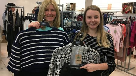 Picking out the perfect business attire; Sue Buffin and Caitlin Seale, directors at New U in Castle