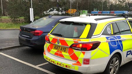 Breckland Police stopped a driver on the A11 after they found them streaming a television program on