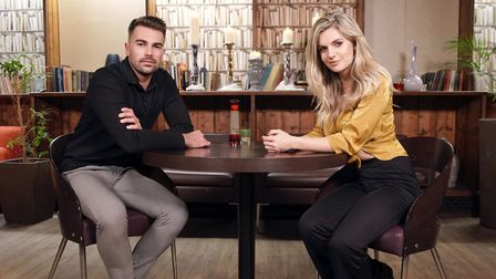 Sam Bird and Elle from Norwich appeared on Eating With My Ex. Photo: BBC