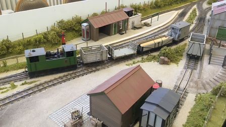 John Dean from Hertfordshire showed his O.16.5 layout 'Grange West Tramway'. Picture: Contributed by
