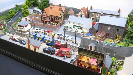 Lyn and Jim Owers travelled up from the Isle Of White to display their 009 layout 'Woolthorpe Light