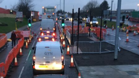 There are severe traffic delays in Great Yarmouth this evening. Photo: Archant
