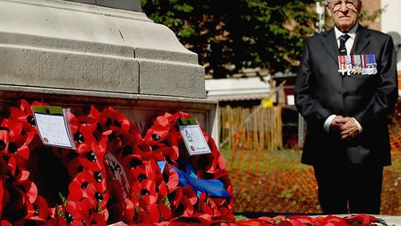 Wing Cdr Vic Stapley pictured in 2005 at the Thanksgiving and Remeberance Service to Commemorate the