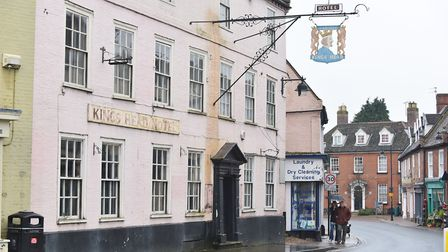 The former Kings Head Hotel in Bungay which is being used for a major new project.Picture: James Bas